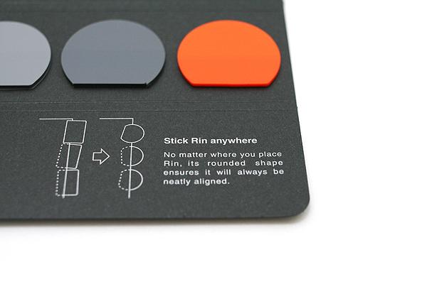 Metaphys Rin Index Film Stickers - Black - Pack of 25 X 6 Sheets - METAPHYS 42020-BK