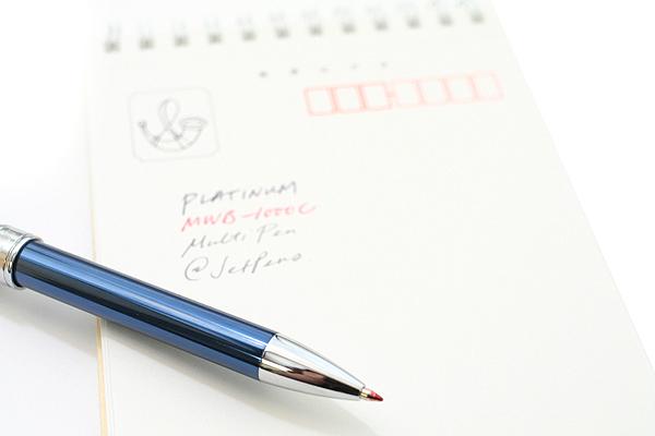 Platinum MWB-1000C 2 Color 0.7 mm Ballpoint Multi Pen + 0.5 mm Pencil - Blue Body - PLATINUM MWB-1000C 56