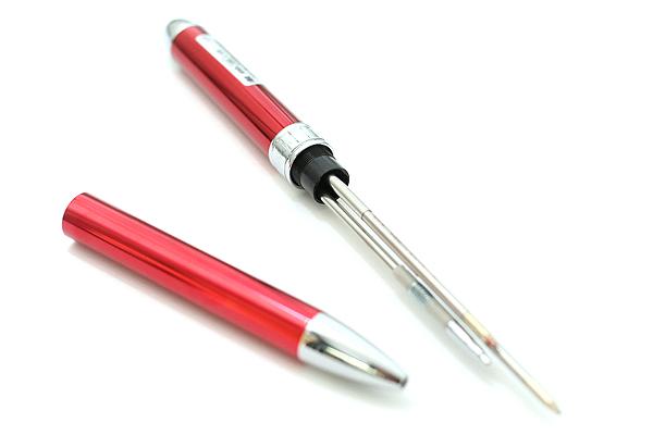 Platinum MWB-1000C 2 Color 0.7 mm Ballpoint Multi Pen + 0.5 mm Pencil - Red Body - PLATINUM MWB-1000C 70