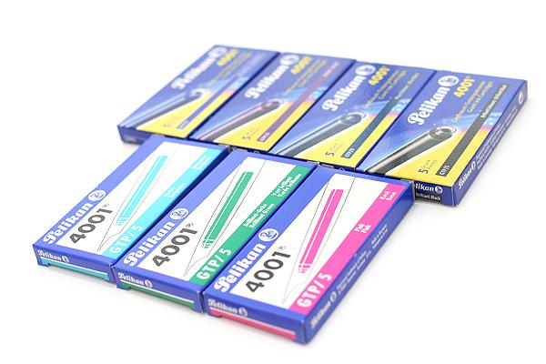 Pelikan 4001 GTP/5 Fountain Pen Ink Cartridge - Long - Turquoise Blue - Pack of 5 - PELIKAN 310656