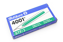 Pelikan 4001 GTP/5 Fountain Pen Ink Cartridge - Long - Brilliant Green - Pack of 5 - PELIKAN 310631