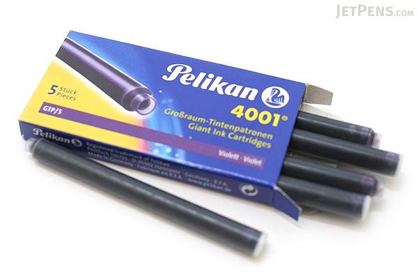 Pelikan 4001 GTP/5 Fountain Pen Ink Cartridge - Long - Violet Purple - Pack of 5 - PELIKAN 310664