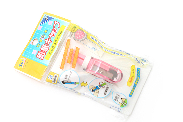 Sun-Star 2Way Pencil Cap + Sharpener - Pink - SUN-STAR S5033810