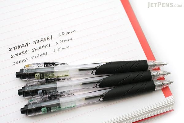Zebra Surari Emulsion Ink Pen - 0.7 mm - Fluorescent Pink Ink - ZEBRA BN11-KP