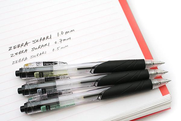 Zebra Surari Emulsion Ink Pen - 0.7 mm - Dark Black Body - Black Ink - ZEBRA BN11-DBK