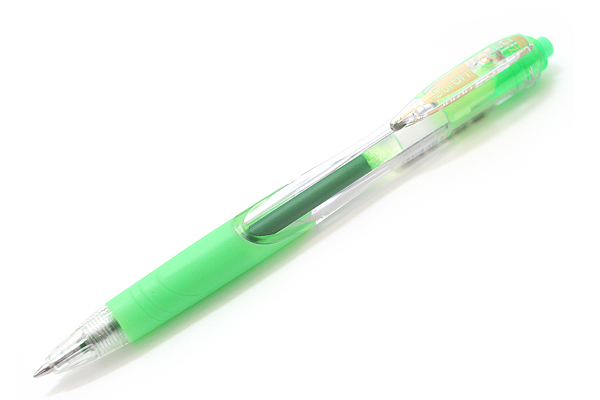 Zebra Surari Emulsion Ink Pen - 0.7 mm - Fluorescent Green Ink - ZEBRA BN11-KG