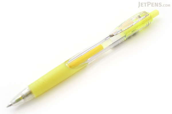 Zebra Surari Emulsion Ink Pen - 0.7 mm - Fluorescent Yellow Ink - ZEBRA BN11-KY