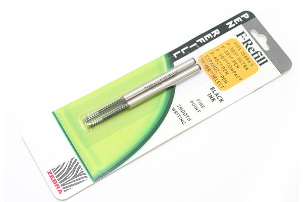 Zebra F-Refill Ballpoint Pen Refill - 0.7 mm - Black - Pack of 2 - ZEBRA 85512