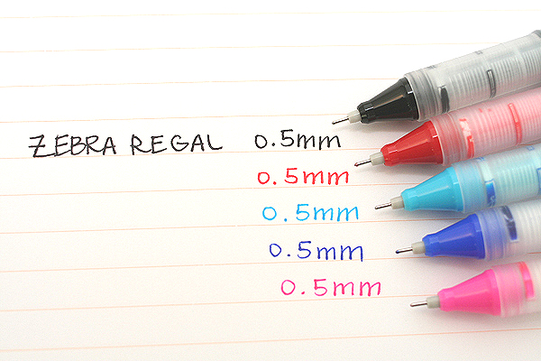 Zebra Regal Liquid Ink Needle Point Roller Ball Pen - 0.5 mm - Black - ZEBRA 44810