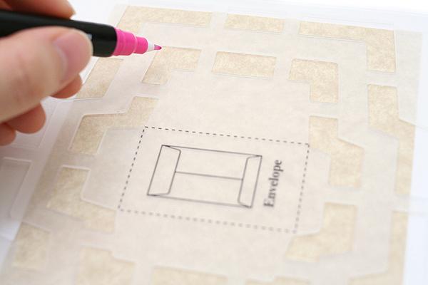 Kuretake Double-Sided Craft Pen - Disappearing Ink Marker + Erasing Ink Brush - KURETAKE OV-7500A-025S