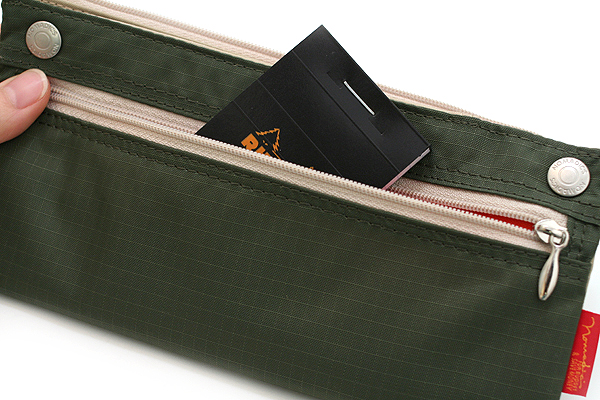 Nomadic PN-04 Snap Button Pencil Case - Khaki Green - NOMADIC EPN 04 KHAKI
