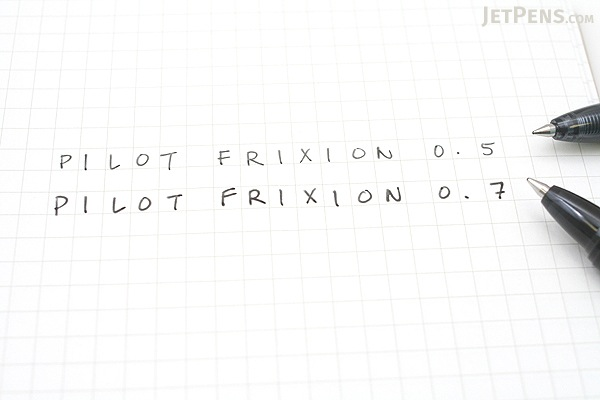 Pilot FriXion Ball Knock Retractable Gel Pen - 0.7 mm - Black - PILOT LFBK-23F-B