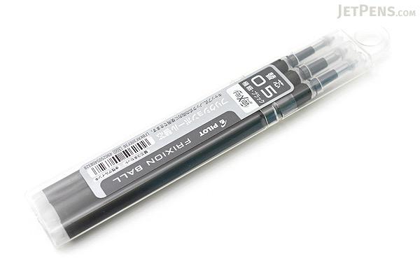Pilot FriXion Gel Pen Refill - 0.5 mm - Black - Pack of 3 - PILOT LFBKRF30EF3B