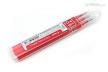 Pilot FriXion Gel Pen Refill - 0.5 mm - Red - Pack of 3 - PILOT LFBKRF30EF3R