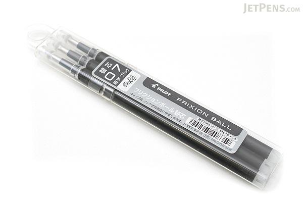 Pilot FriXion Gel Pen Refill - 0.7 mm - Black - Pack of 3 - PILOT LFBKRF30F3B
