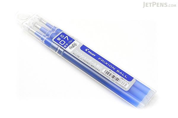 Pilot FriXion Gel Pen Refill - 0.7 mm - Blue - Pack of 3 - PILOT LFBKRF30F3L
