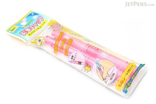 Sun-Star Sect Wooden Pencil Cap & Extender - Pink - Pack of 4 - SUN-STAR S5028035