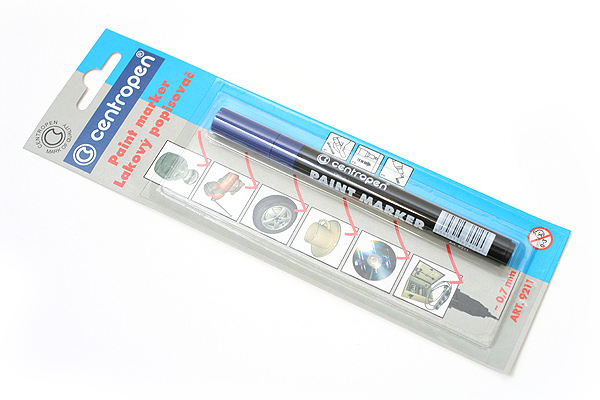Centropen 9211 Lacquer Multi-Surface Paint Marker Pen - 0.7 mm - Blue - CENTROPEN 5 9100 9906