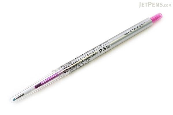 Uni Style Fit Single Color Slim Gel Pen - 0.5 mm - Pink - UNI UMN13905.13