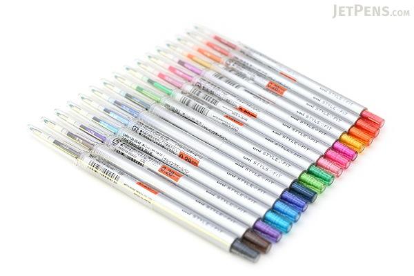 Uni Style Fit Single Color Slim Gel Pen - 0.28 mm - Golden Yellow - UNI UMN13928.69
