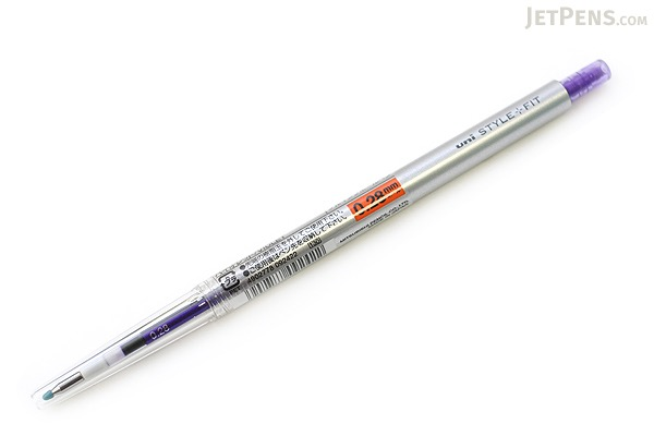 Uni Style Fit Single Color Slim Gel Pen - 0.28 mm - Violet - UNI UMN13928.12