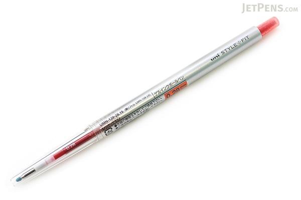 Uni Style Fit Single Color Slim Gel Pen - 0.28 mm - Red - UNI UMN13928.15