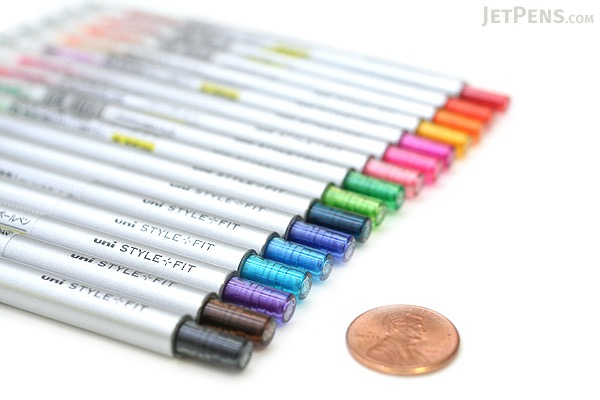Uni Style Fit Single Color Slim Gel Pen - 0.38 mm - Green - UNI UMN13938.6