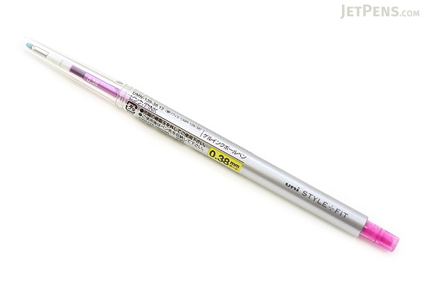 Uni Style Fit Single Color Slim Gel Pen - 0.38 mm - Pink - UNI UMN13938.13
