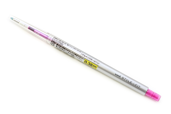 Uni Style Fit Single Color Slim Gel Pen - 0.38 mm - Pink - UNI UMN13938.13