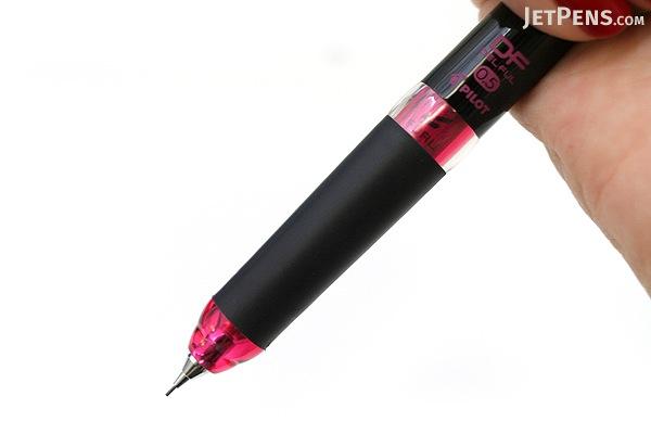 Pilot Delful Double Knock Mechanical Pencil - 0.5 mm - Black & Pink - PILOT HDF-50R-BP
