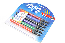 Expo Click Retractable Dry Erase Marker Pen - Fine Tip - Pack of 6 Fashion Colors - EXPO 1751667