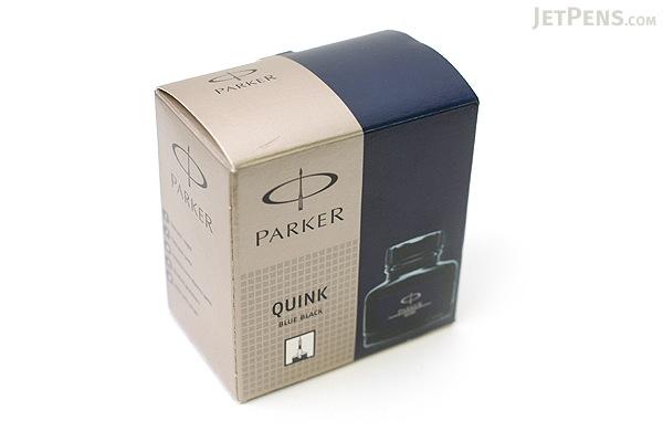 Parker Quink Blue Black Ink - Permanent - 2 oz Bottle - PARKER S0037490