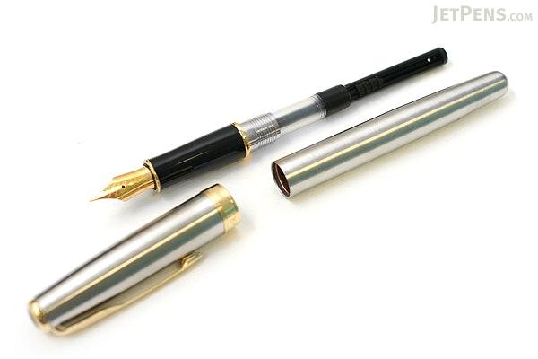 Parker Sonnet Fountain Pen - Stainless Steel - Gold Trim - Fine Nib - PARKER S0809110