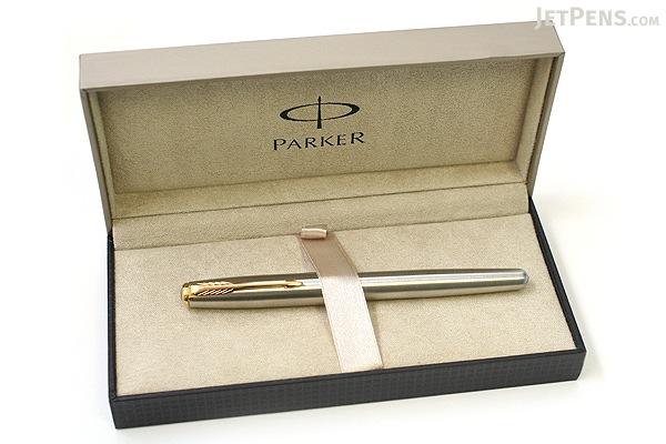 Parker Sonnet Fountain Pen - Stainless Steel - Gold Trim - Medium Nib - PARKER S0809120