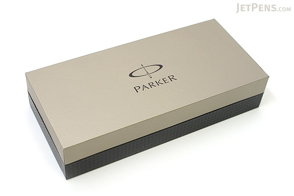 Parker Sonnet Fountain Pen - Black Lacquer - Chrome Trim - Medium Nib - PARKER S0808810