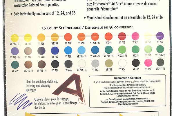 Prismacolor Verithin Color Pencil - 36 Color Set - PRISMACOLOR 2428
