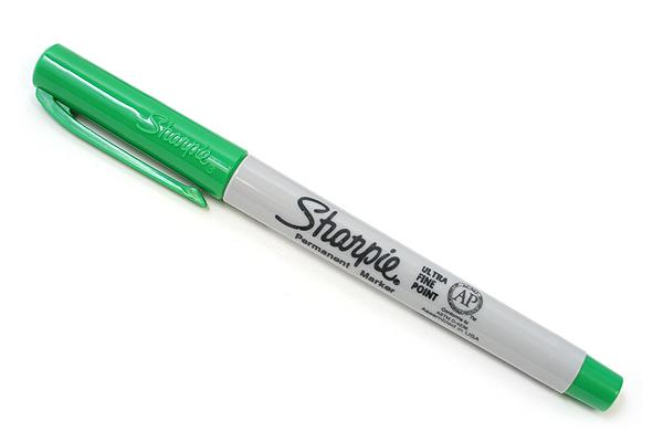 Sharpie Permanent Marker - Ultra Fine Point - Green - SHARPIE 37114