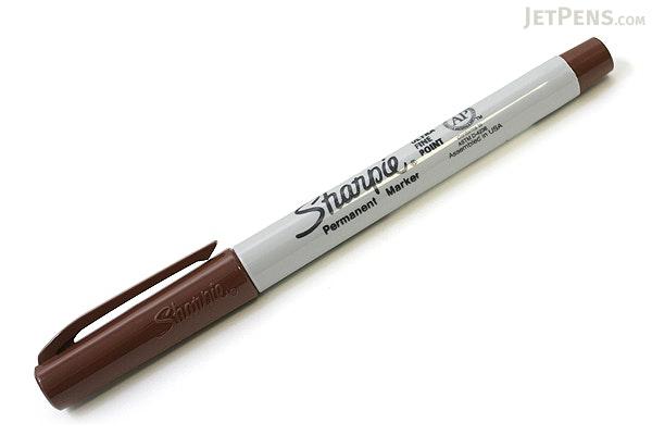 Sharpie Permanent Marker - Ultra Fine Point - Brown - SHARPIE 37117