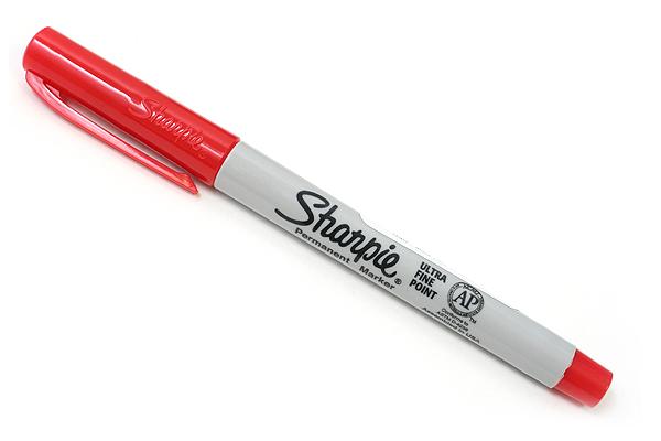 Sharpie Permanent Marker - Ultra Fine Point - Red ...