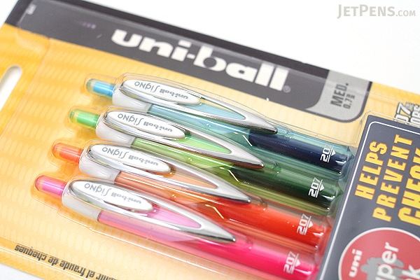 Uni-ball Signo 207 Colors Retractable Gel Pen - 0.7 mm - Pack of 4 Fashion Colors - UNI-BALL 1739928