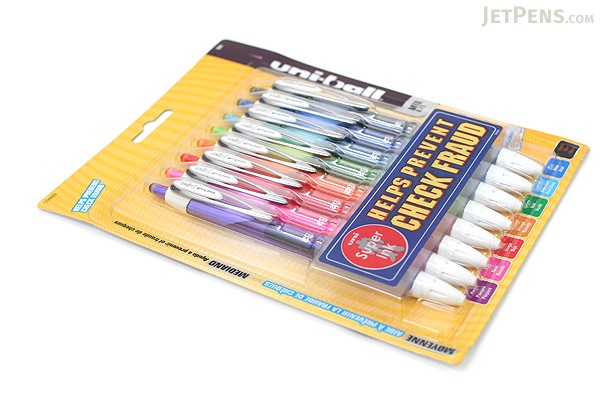 Uni-ball Signo 207 Colors Retractable Gel Pen - 0.7 mm - Pack of 8 Colors - UNI-BALL 1739929