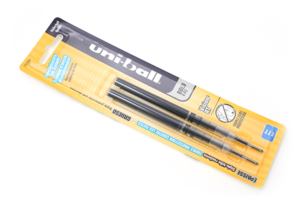 Uni-ball Vision RT Retractable Liquid Ink Roller Ball Pen Refill - 0.8 mm - Blue - Pack of 2 - SANFORD 1751594