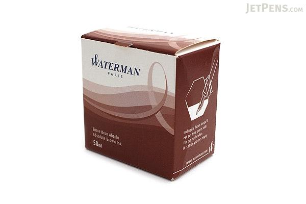 Waterman Absolute Brown Ink - 50 ml Bottle - WATERMAN S0110830