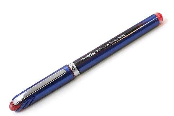Pentel EnerGel Euro Needle-Point Gel Pen - 0.35 mm - Red - PENTEL BLN23-B