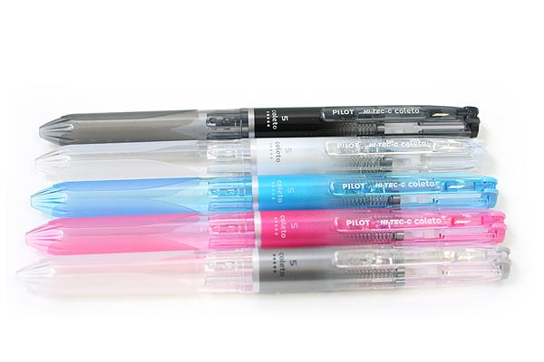 Pilot Hi-Tec-C Coleto 5 Color Multi Pen Body Component - Clear White - PILOT LHKC25C-NCW