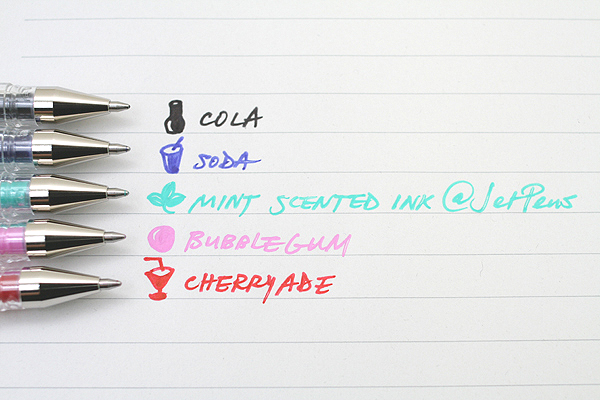 Uni-ball Signo Scents UM-120SC Gel Ink Pen - 0.8 mm - Coconut Brown - UNI UM-120SC COCONUT