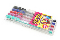 Uni-ball Signo Scents UM-120SC Gel Ink Pen - 0.8 mm - 5 Sweet Tooth Color Set - UNI UM-120SC ST
