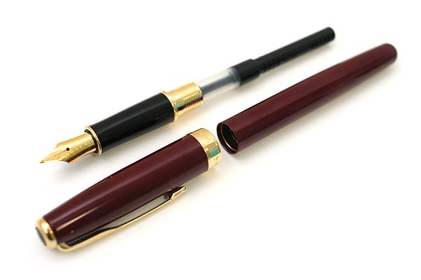 Parker Sonnet Fountain Pen - Dark Red Lacquer Body with Gold Trim - Medium Nib - SANFORD S0808910