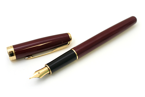 Parker Sonnet Fountain Pen - Dark Red Lacquer Body with Gold Trim - Medium Nib - SANFORD S0808910