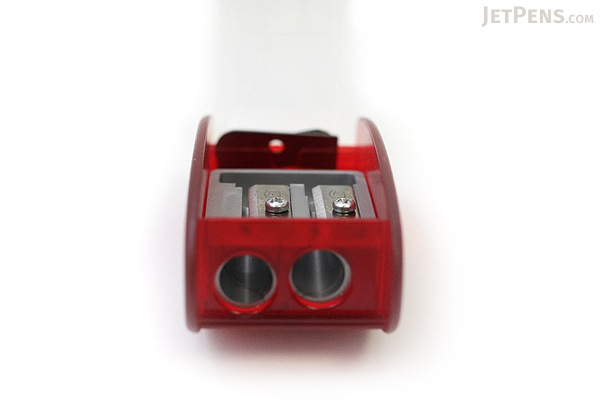 Kum Automatic Brake Long Point 2 Step Pencil Sharpener + 2 Spare Blades - Red - KUM 105.30.21